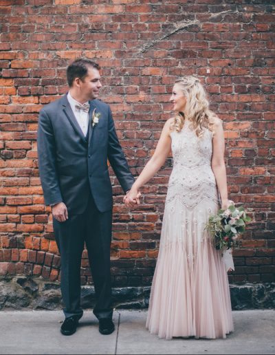 Bride and Groom by Jennifer DeBarros Photography