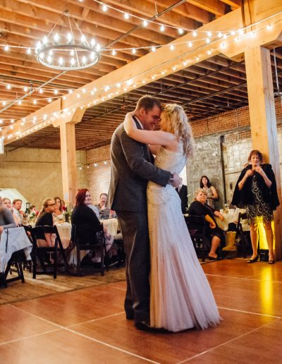 Wedding dance at Barrister Winery Spokane Events