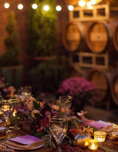 Courtyard Evening at Barrister Winery | Urban Rose Photography